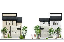 ポラスの分譲住宅 Mirais 三郷中央 nextstage 望む街。D区の外観