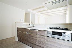 使い勝手の良いシステムキッチン。ビルトイン食器洗い乾燥機を標準装備。(施工例写真)