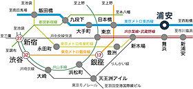 【路線図】都心とスピーディーに直結する東京メトロ東西線。