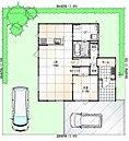 1階間取り・建物配置図