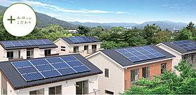 環境にも家庭にもやさしい太陽光発電を全邸に搭載
