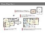 1号棟間取り図/建物面積107.12m2(32.4坪)2階のLDKは20.2帖!吹き抜けのある開放的な空間。水回りをワンフロアに集め家事動線に配慮しました。