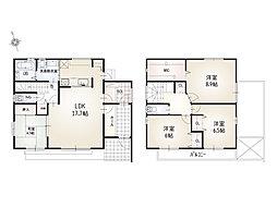 熊之庄A棟 バルコニーが2か所あり、2階のお部屋は全部バルコニー付きで、お布団干しやお洗濯物干しがとても便利です。