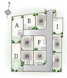 全11区画(A・Bはモデルハウス建築予定)