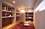 隠れ家的なアイデアスペース。パパの書斎や趣味のお部屋として活用できます!(当社施工例)