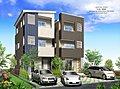 都市型3階建て住宅 松蔭高校西の家