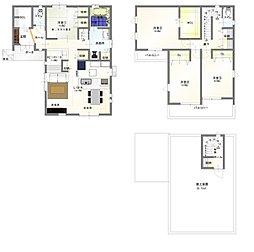 3階建て屋上庭園付き住宅 4LDKで納戸などもあり収納にも困りません。