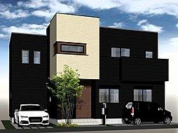 \ココナラ北妙法寺/リビングから愛車を眺めるビルトインガレージの家  モデル販売開始の外観
