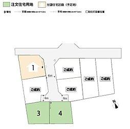 【トヨタウッドユーホーム】西川田町7期全8区画:交通図
