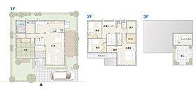 大きなスカイバルコニーのある家。