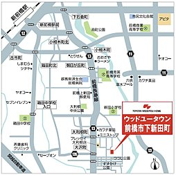 【トヨタの木の家】前橋下新田町三期~全15区画~:交通図