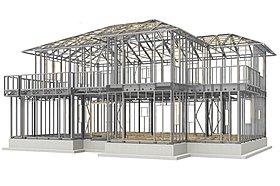 構造体全体で建物の揺れに耐える「大型パネル構法」