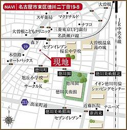 QTハウス 千種区鹿子町一丁目の土地(建築条件付土地):案内図
