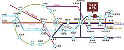 【はぐみの杜 118街区】  八千代緑が丘駅 徒歩14分 ~木ここちタウンはぐみの杜~:交通図