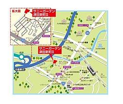 サニーガーデン津田新町2期:案内図