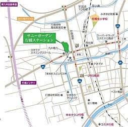 サニーガーデン行橋ステーション:交通図