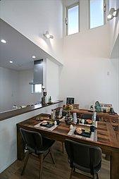 (2号棟)完成予想図 寛ぎの大空間 機能性に優れた大空間リビングの住まい。