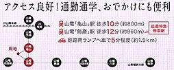 全28区画【ウィンタウン飾磨区細江】分譲中:交通図