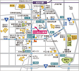 ストークビレッジ加古川駅南:交通図