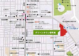 【三愛地所】 [土地] グリーンタウン栄町東:交通図