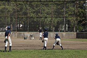 野球場やテニスコートが併設された真砂第2公園