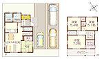 【モデルハウス公開中】4LDK 全室収納 駐車スペース4台可能のすっきりした間取り♪