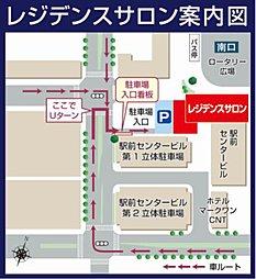 現地案内図※一般道路・施設等を抜粋して表記しております。