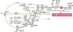 路線図※都営浅草線との相互乗入れにより都心方面へ直通アクセス
