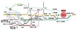 【JR下総中山駅7分】販売開始3ヶ月で早くもラスト1区画 東南角地 敷地30坪以上の好立地:交通図