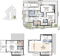 〇LDK20帖以上のゆとり空間 ●WIC/SICなどの大型収納 〇開放的な「スカイバルコニー」付 ●専用宅配ボックス