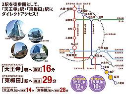 【大阪市内全52区画の街】ハーベストランド・ブロッサム平野:交通図