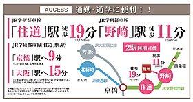2駅とも徒歩圏内で、大阪市内へ一直線!