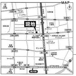 【野村土地】北区八代 売地:案内図