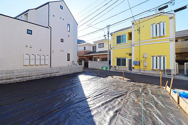 【現地土地写真:7月撮影】京王線「調布」駅へバス利用でスマートな通勤・通学を実現。全12棟のニュータウンの登場です!