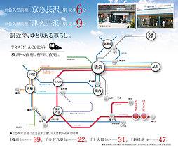 湘南長沢セレノステージ・全55区画:交通図