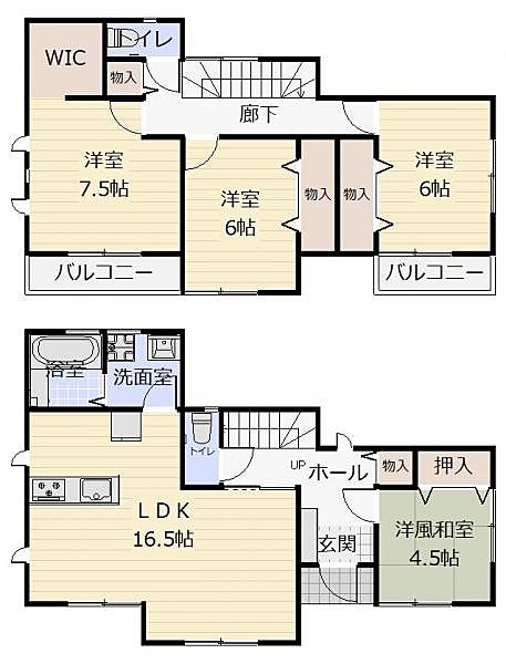 2号棟 土地面積185.11m2 建物面積105.99m2