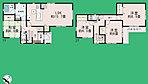 間取り 全居室2面採光採用、収納スペース充実♪
