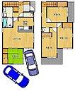 全区画駐車2台可能ですよ!セカンドカーや家族の車の駐車代もかかりませんね!