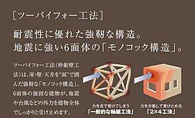 (1)地震に強いツーバイフォー工法
