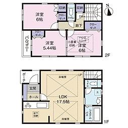 【全5棟】世田谷区赤堤2丁目の新築戸建 3号棟 3LDK。5....