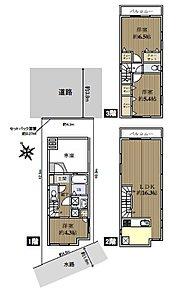 駅から平坦な便利な立地に、車庫付き新築一戸建て住宅!