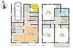 全居室6帖以上と広々!(1号棟)LDKも使い勝手を考えた間取り!寝室は広々約7.1帖の空間!全室収納あり!