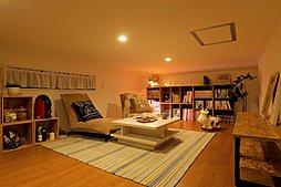 (施工例)ロフトは本棚を置いて書斎としてや壁をスクリーンにしてシアタールームとしても使っていただけます!