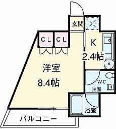 JR山手線 池袋駅 徒歩14分の賃貸マンション 7階1Kの間取り