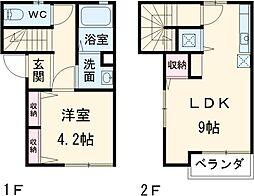 古千谷本町テラスハウス 1階1LDKの間取り