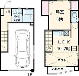 ウッドマンションホープ II 1階1LDKの間取り