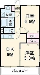 天竜浜名湖鉄道 天竜二俣駅 徒歩15分の賃貸マンション 1階2DKの間取り