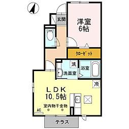 天竜浜名湖鉄道 天竜二俣駅 バス5分 二俣横町下車 徒歩10分の賃貸アパート 1階1LDKの間取り