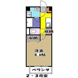 JR中央線 荻窪駅 徒歩11分の賃貸マンション 3階1Kの間取り