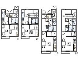 JR東海道本線 三河塩津駅 徒歩7分の賃貸アパート 2階1Kの間取り